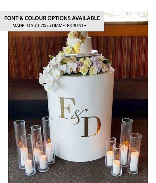 Personalised Initials Only Plinth Decal